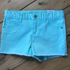 Justice Mint Green Jean Shorts - Size 14
